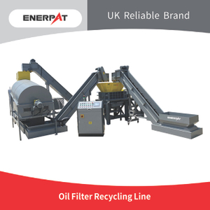 Complete Oil Filter Recycling Line (Separation Rate 99%)