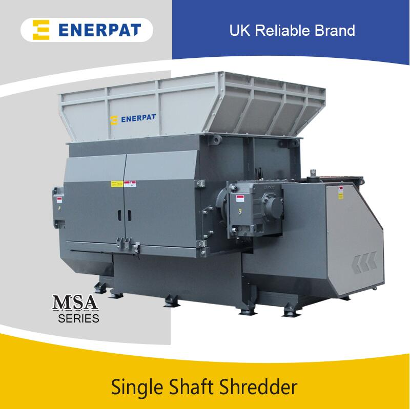 Commercial High Efficiency Single Shaft Shredder Machine for Aluminum Cans Bale
