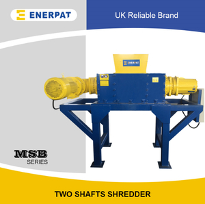 Commercial Double Shaft Shredder for Steel Drums