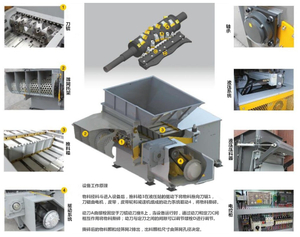 Economic Documents Single Shaft Shredder Machine